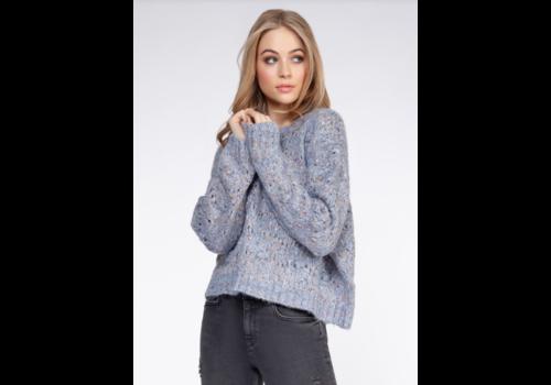 Dex Long Sleeve Pompom Sweater