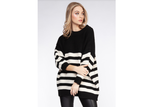 Dex Striped Oversized Sweater