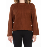 Long Sleeve Sweater Side Button