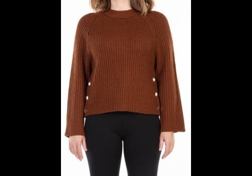 Dex Long Sleeve Sweater Side Button