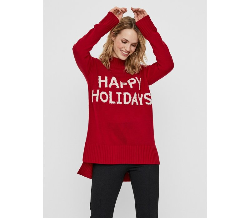 Holidays Long High Neck Blouse