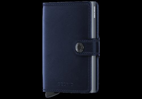 SECRID Mini Wallet Navy Polished Blue