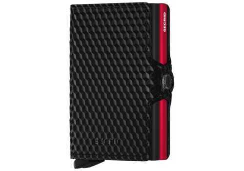 SECRID Twin Wallet Cubic Black Red