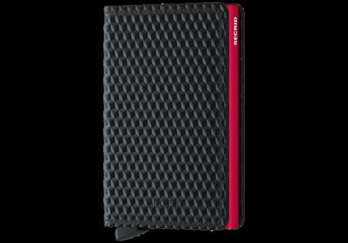SECRID Slim Wallet Cubic Black Red