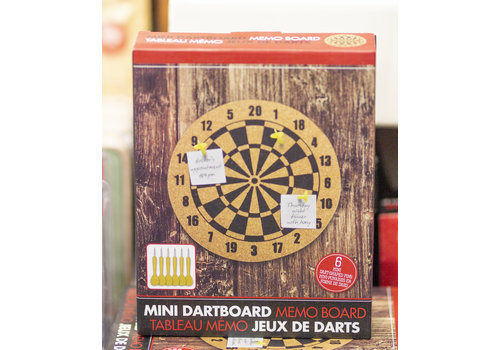 Mini Cork Dartboard Memo Board