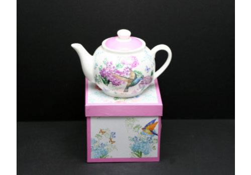 Porcelain Teapot in Gift Box Hummingbird 900ml
