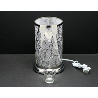 "Silver Feather LED Touch Sensor Lamp 6""x10"""