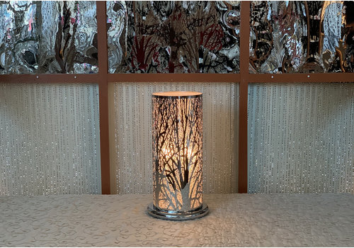 "Silver Forest Touch Sensor Lamp 11""x20"""