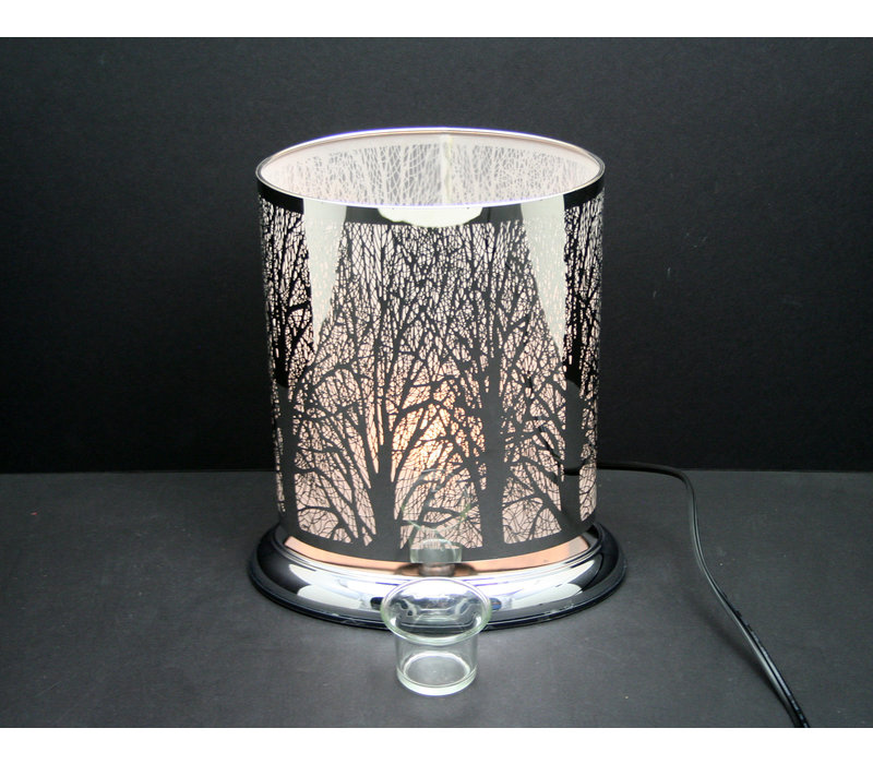 """Silver Forest Oval Shape Touch Sensor Lamp 8.5""""x10"""""""
