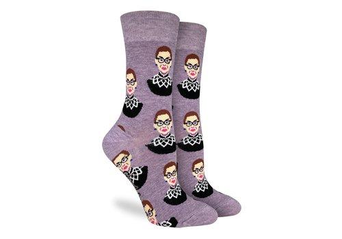 Good Luck Sock Women's Ruth Bader Ginsburg Purple Socks