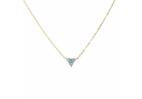 Park & Buzz Mermaid Triangle Teal Opal Necklace
