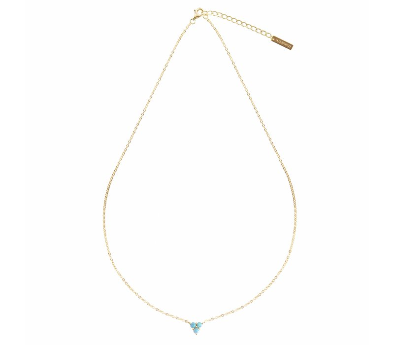 Mermaid Triangle Teal Opal Necklace