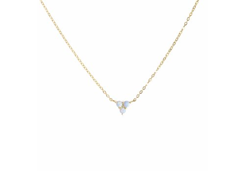 Park & Buzz Mermaid Triangle Blue Opal Necklace