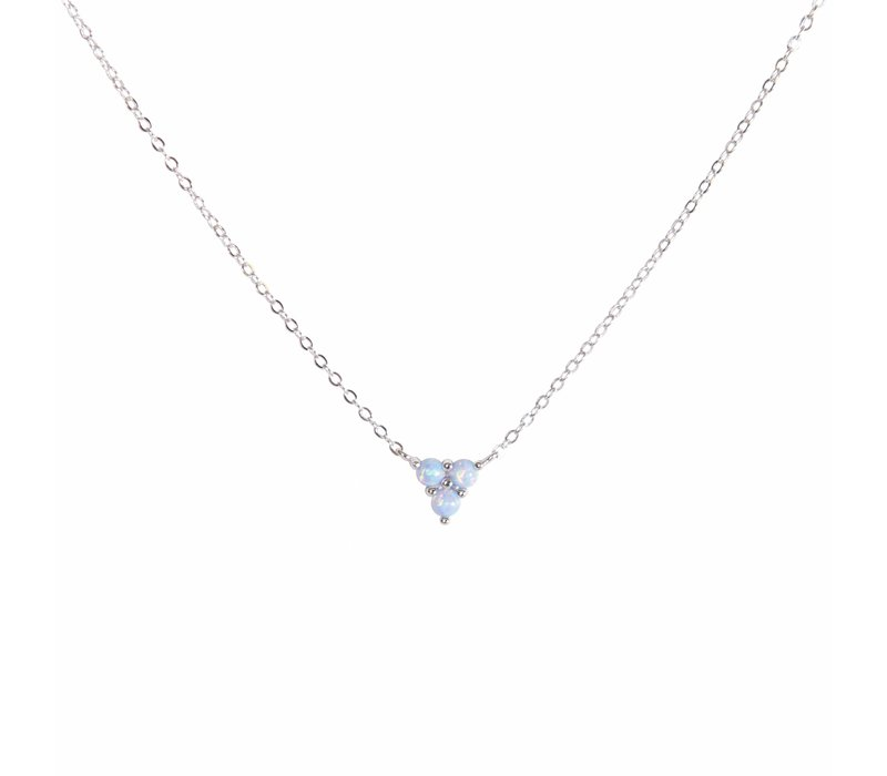 Mermaid Triangle Blue Opal Necklace