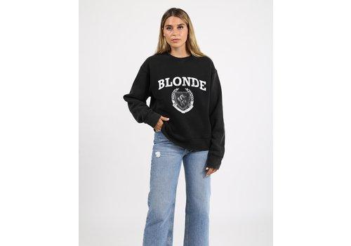 Brunette The Label Blonde Distressed Varsity Step Sister