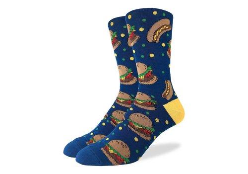 Good Luck Sock Men's Burgers & Hotdogs Socks