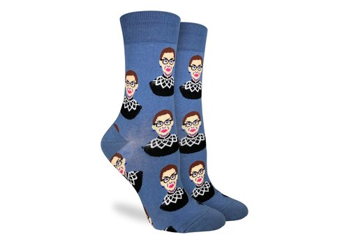 Good Luck Sock Women's Ruth Bader Ginsburg Blue Socks