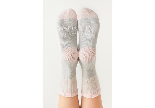 Z Supply Namaste Rib Socks Heather Grey O/S
