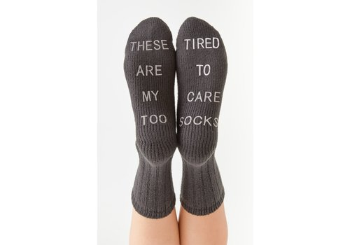 Z Supply Too Tired Rib Socks Pewter O/S