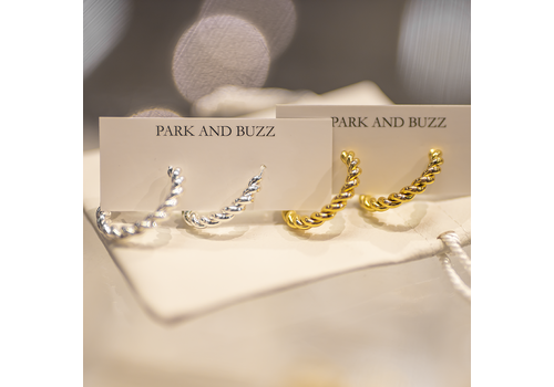 Park & Buzz Rope Twist Midi Hoops
