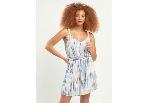 Dex Printed Belted Dress