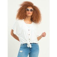 Button Front Knit Top