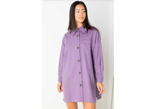 Daisy Street Denim Shirt Dress With Collar