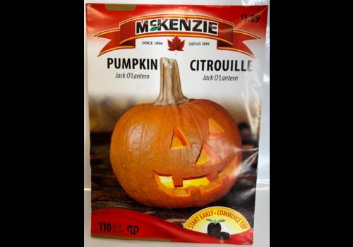 McKenzie Pumpkin Jack O'Lantern