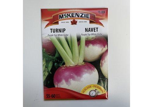 McKenzie Turnip Purple Top White Globe