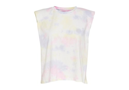 ONLY Amy Padded Shoulder Tie Dye Tee