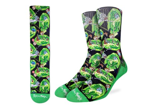 Good Luck Sock Men's Rick and Morty Wormholes Socks