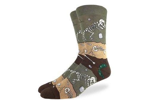 Good Luck Sock Men's Dinosaur Fossil Layers Socks