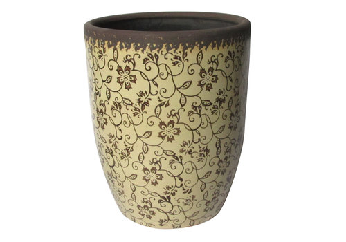 Rustic Floral Tall Planter