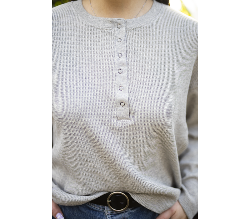 Thermal Button Up Pullover