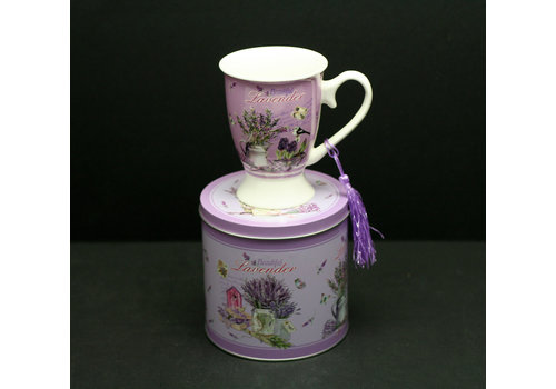 Lavender New Bone China Royal Mug in a Tin Gift Box