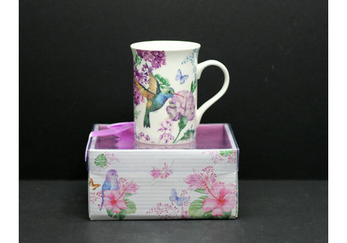 Hummingbird Porcelain Mug in PVC Gift Box