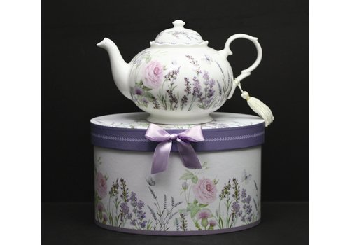Purple Lavender Teapot In Gift Box