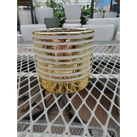 Modern Dolomite Pot Gold