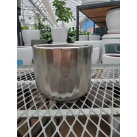 "Avenue Ceramic Pot Matte Silver 6.5x5.5"""