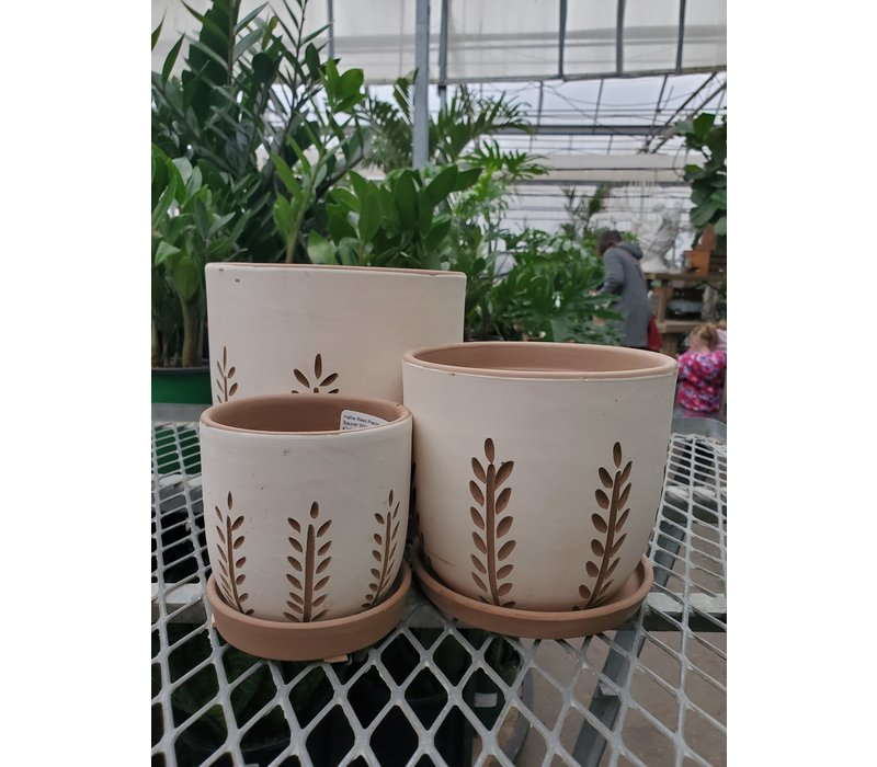 Hallie Reed Planter With Saucer