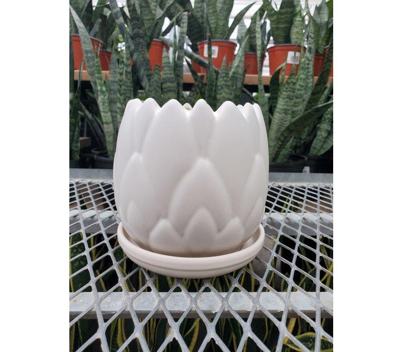 Artichoke Planter With Saucer