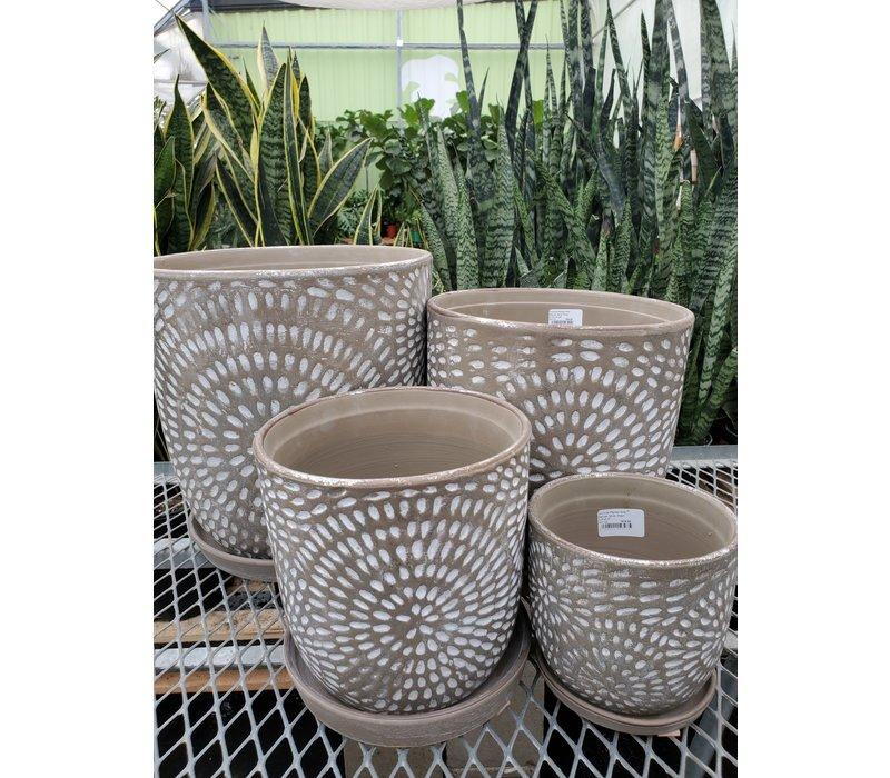 Corinne Planter With Saucer
