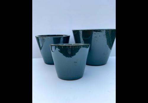 Reactive Glaze Planter Blue
