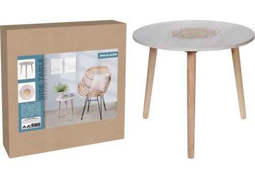 Side Table MDF 49x42cm