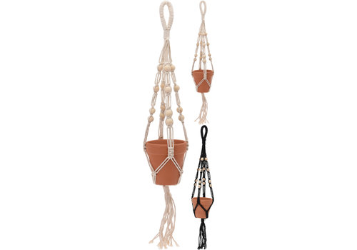 Macrame Hanger With Clay Pot