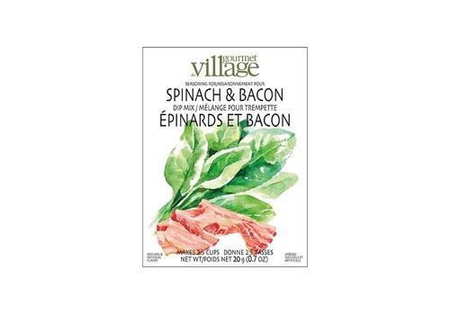Gourmet Du Village Dip Recipe Box Spinach Bacon