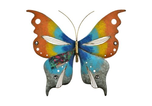 """Painted Butterfly Wall Piece 18""""x15"""""""