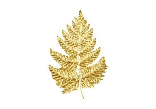 """Gold Fern Leaf Wall Piece 12.5""""x19.5"""""""