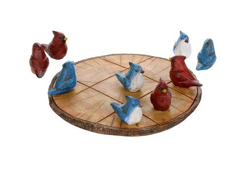 Cardinal & Jay Tic Tac Toe Set