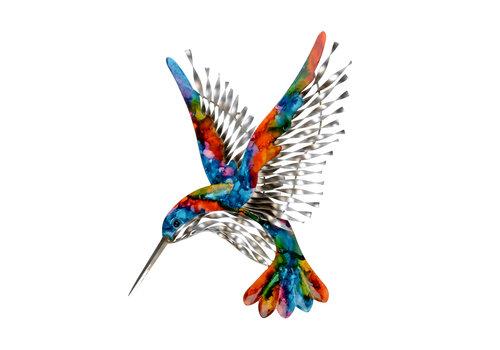 """Rainbow Hummingbird Wall Art 12""""x14"""""""